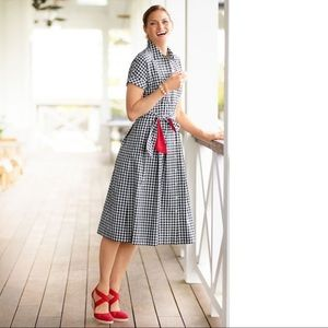 Talbots Gingham Shirt Dress with Pockets